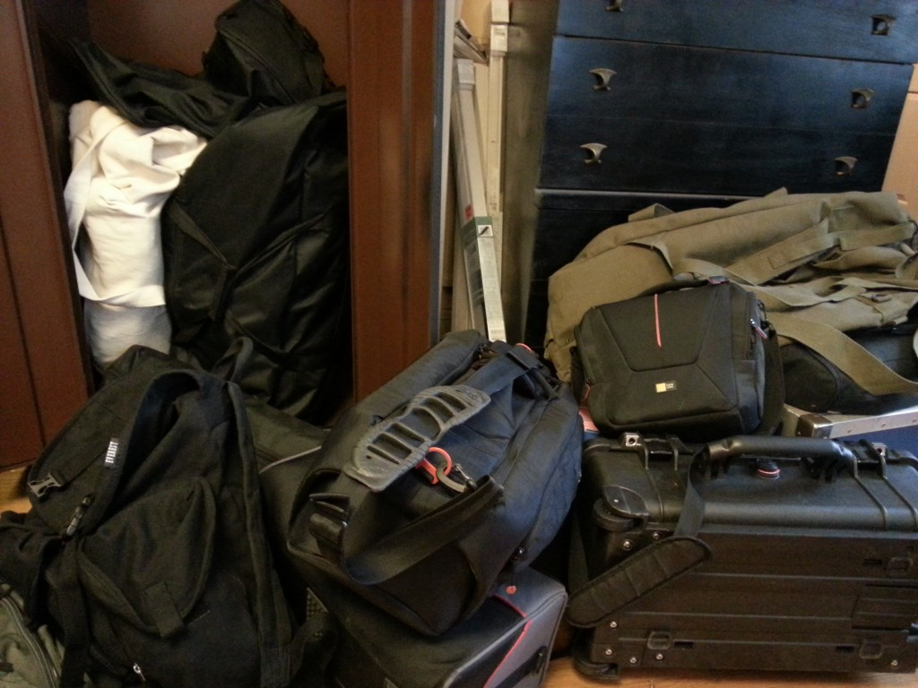 Packed gear from end of Ghosting shoot.